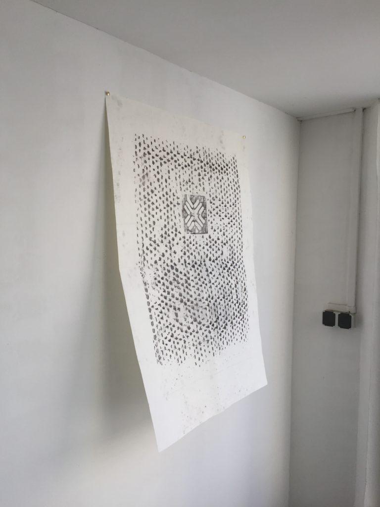 Frottage - Tom Biela- Atelier Rechbauerstraße 46